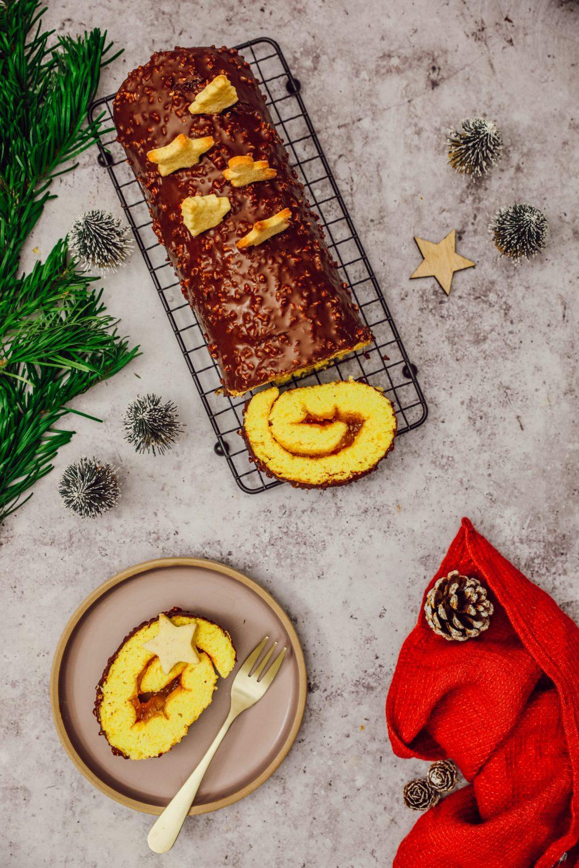 Biscuit roulé & glaçage rocher (2)