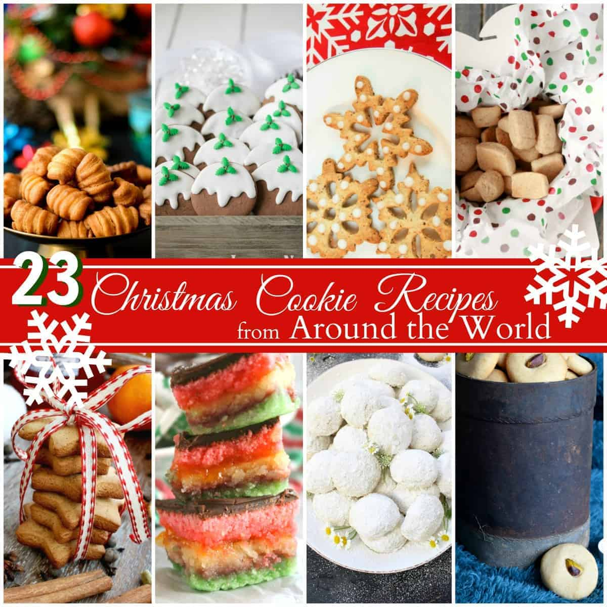 23 Christmas Cookie Recipes from Around the World. A collection of international holiday cookie recipes!