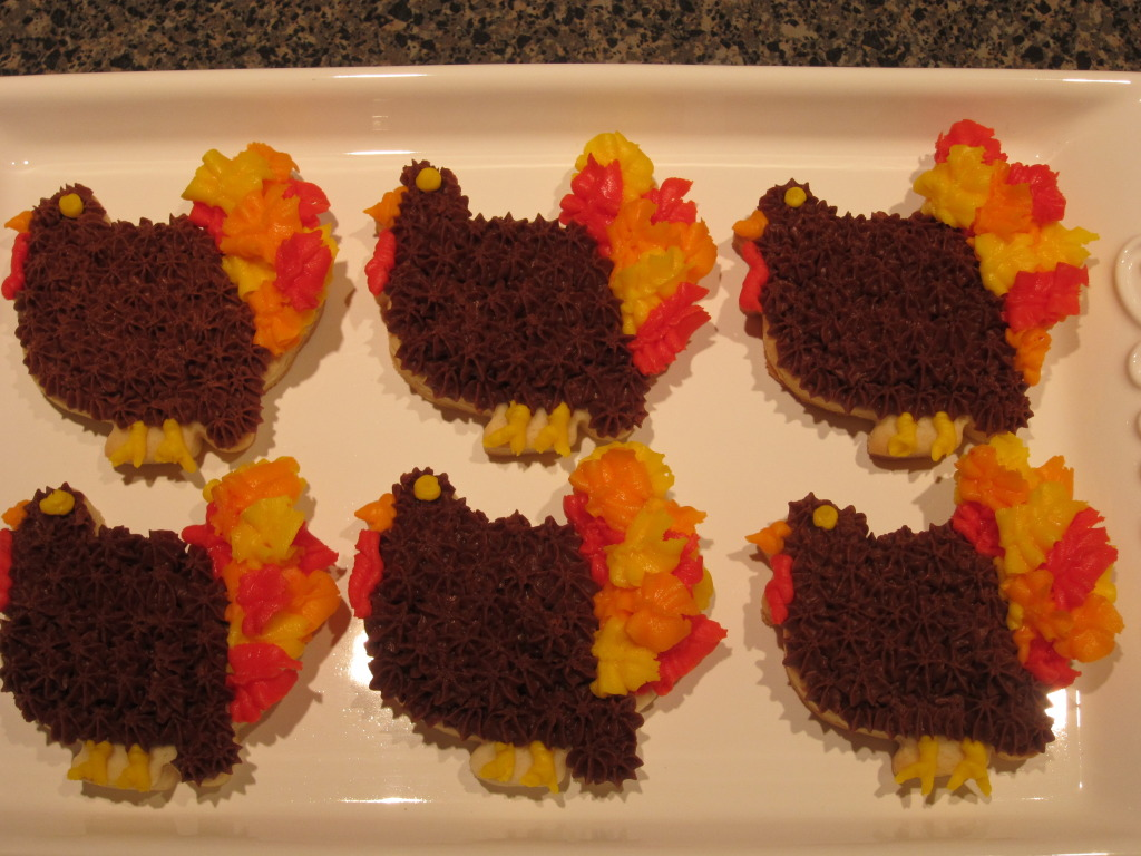 Turkey Cut Out Cookie Tutorial
