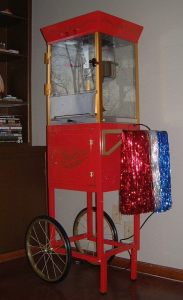 Your guests will love a popcorn machine!