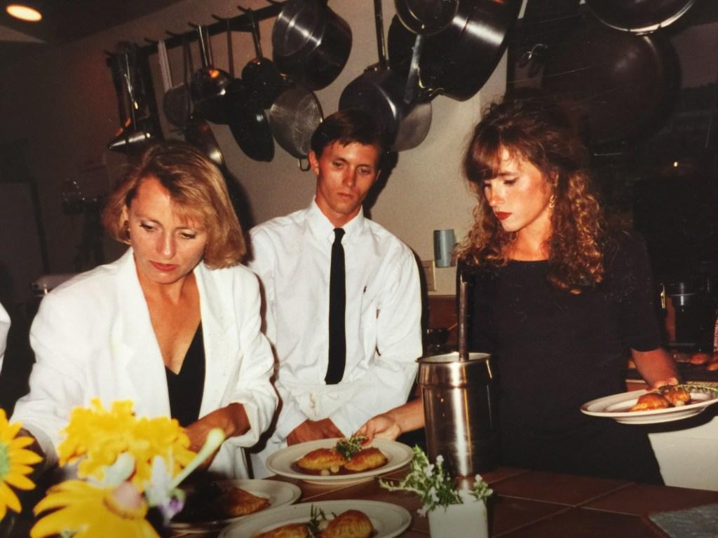 Chef Nancy Zimmer, Josh Nelson and Tamera Baker circa 1992