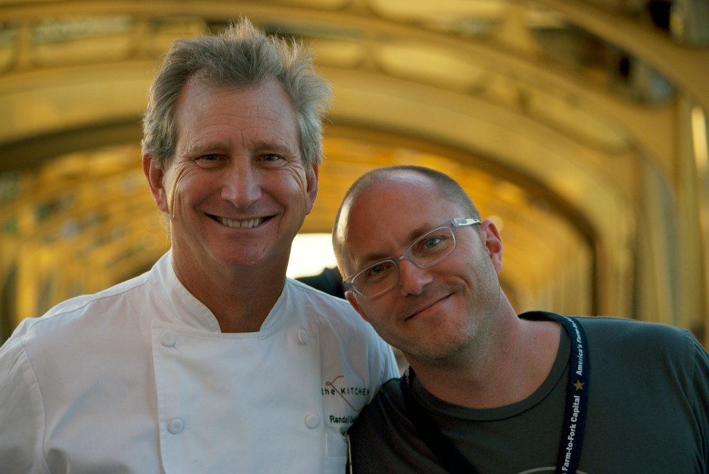 Chef Randall Selland and Josh Nelson at the inaugural Farm-to-Fork Tower Bridge Dinner, 2014