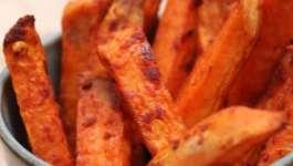Clean Eating Garlic Sweet Potato Chips
