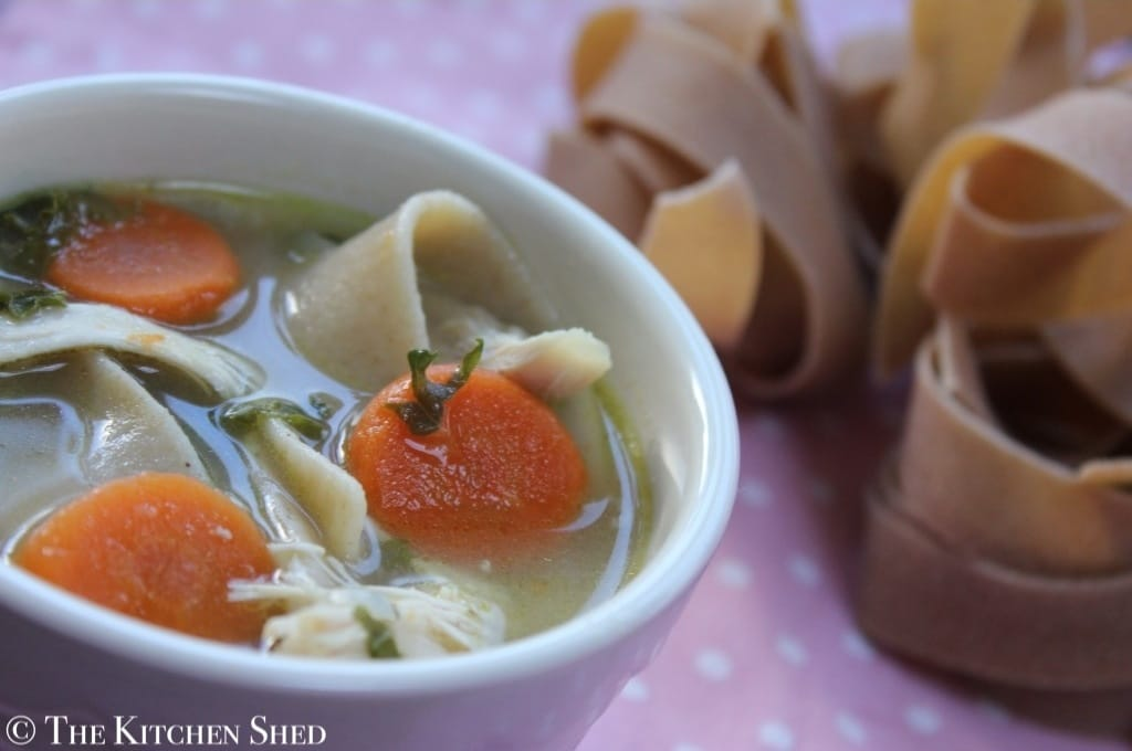 The Kitchen Shed - Clean Eating Chicken Noodle Soup