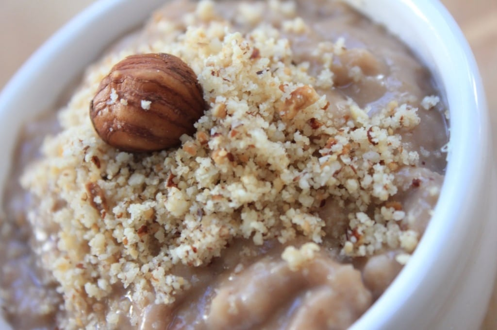Clean Eating Chocolate Hazelnut Porridge