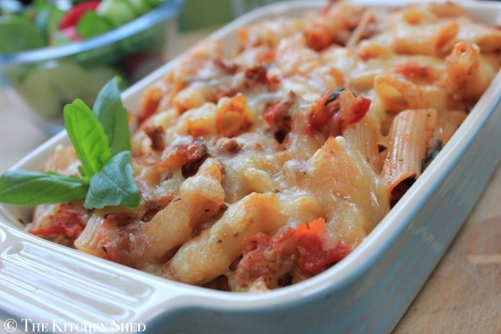 The Kitchen Shed - Clean Eating Turkey Brown Rice Pasta Bake