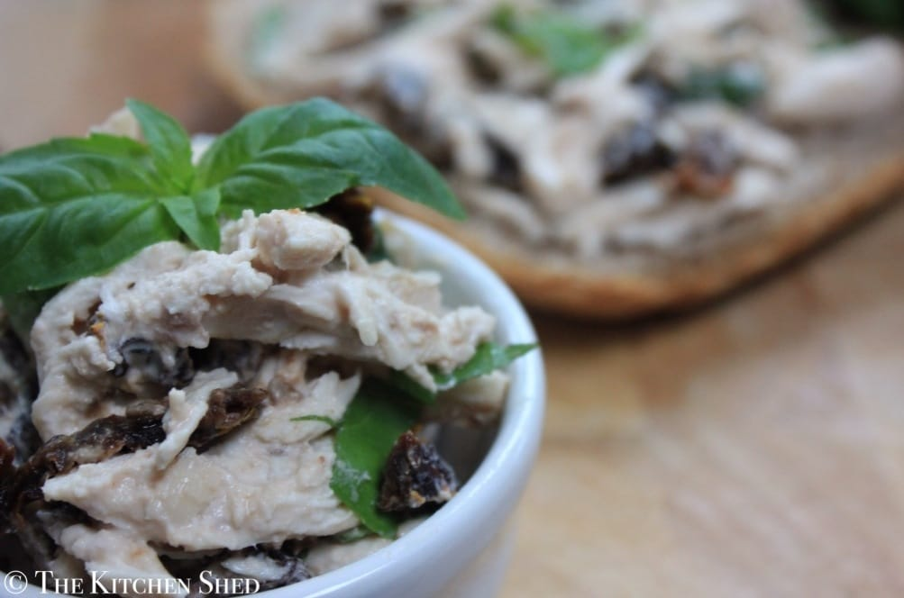 The Kitchen Shed - Clean Eating Sun Dried Tomato and Basil Chicken Salad