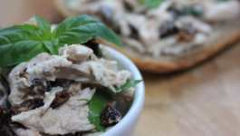 Clean Eating Sun Dried Tomato and Basil Chicken Salad