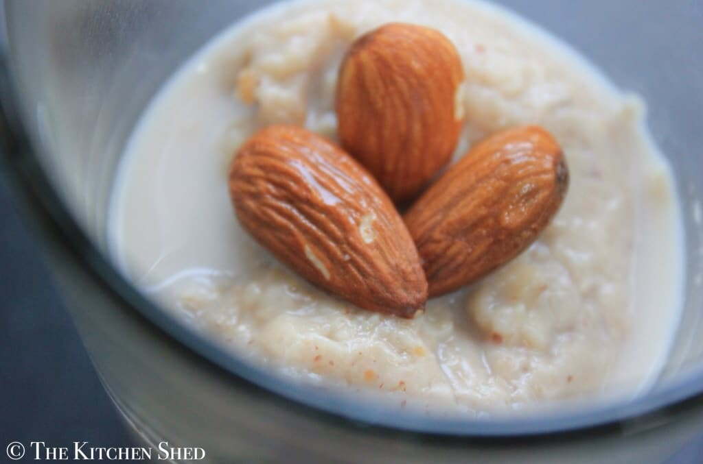 The Kitchen Shed - Clean Eating Almond Porridge