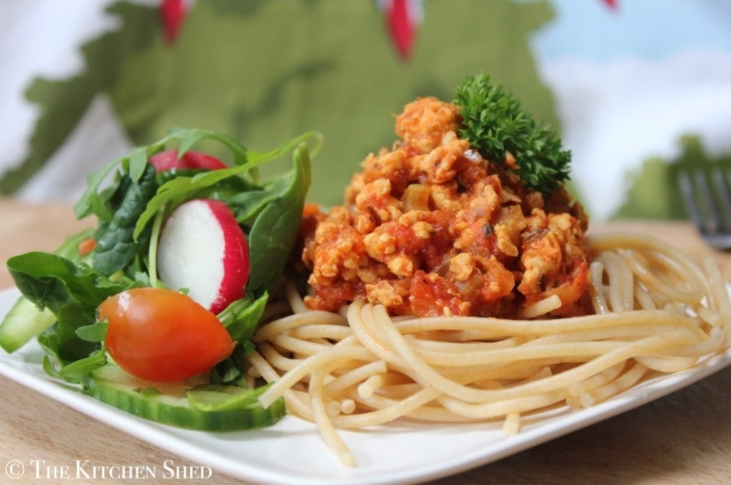 The Kitchen Shed - Clean Eating Turkey Bolognese