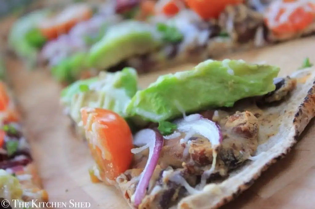 The Kitchen Shed - Clean Eating Quick Mexican Pizza
