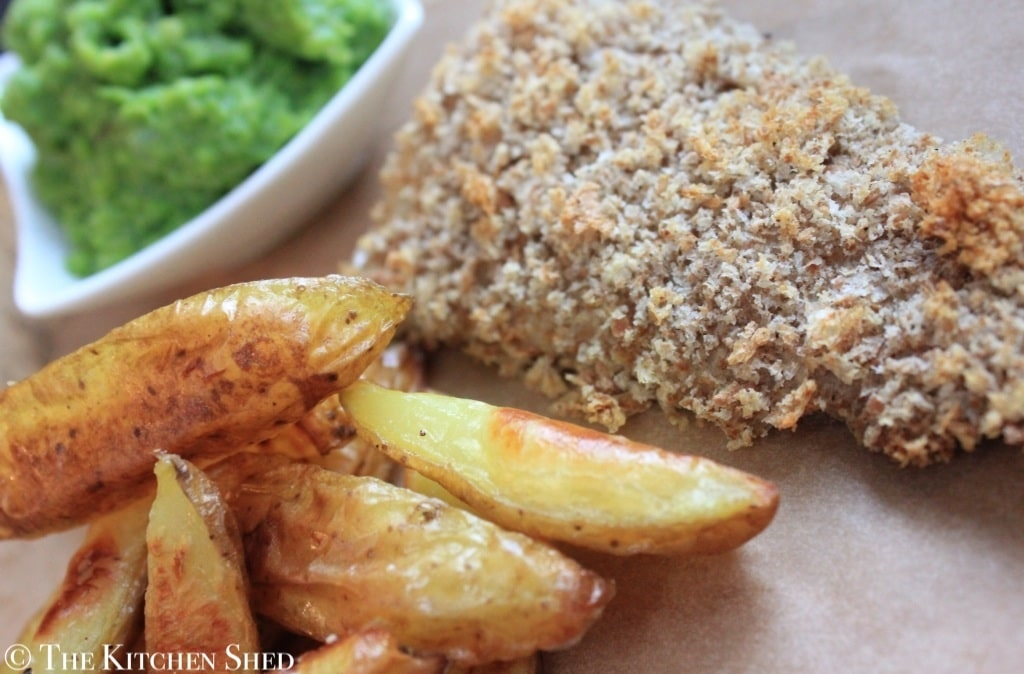 Clean Eating Fish Chips & Mushy Peas - The Kitchen Shed