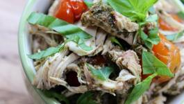 Clean Eating Slow Cooker Pesto Chicken