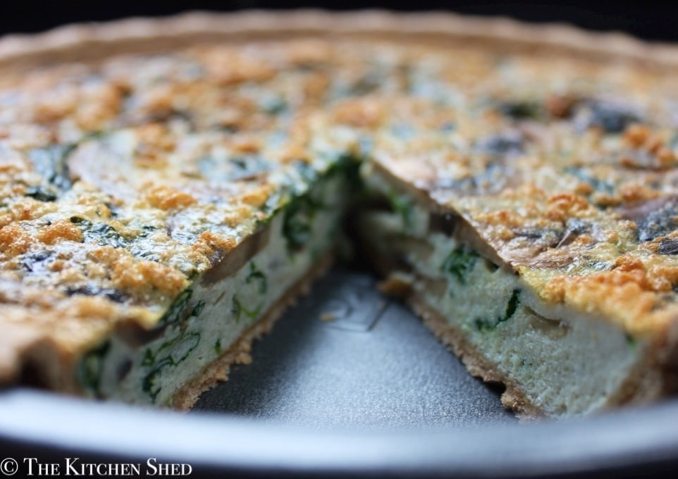 Clean Eating Spinach and Mushroom Quiche - The Kitchen Shed