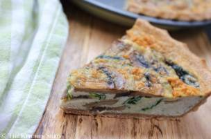 Clean Eating Spinach and Mushroom Quiche (DF)