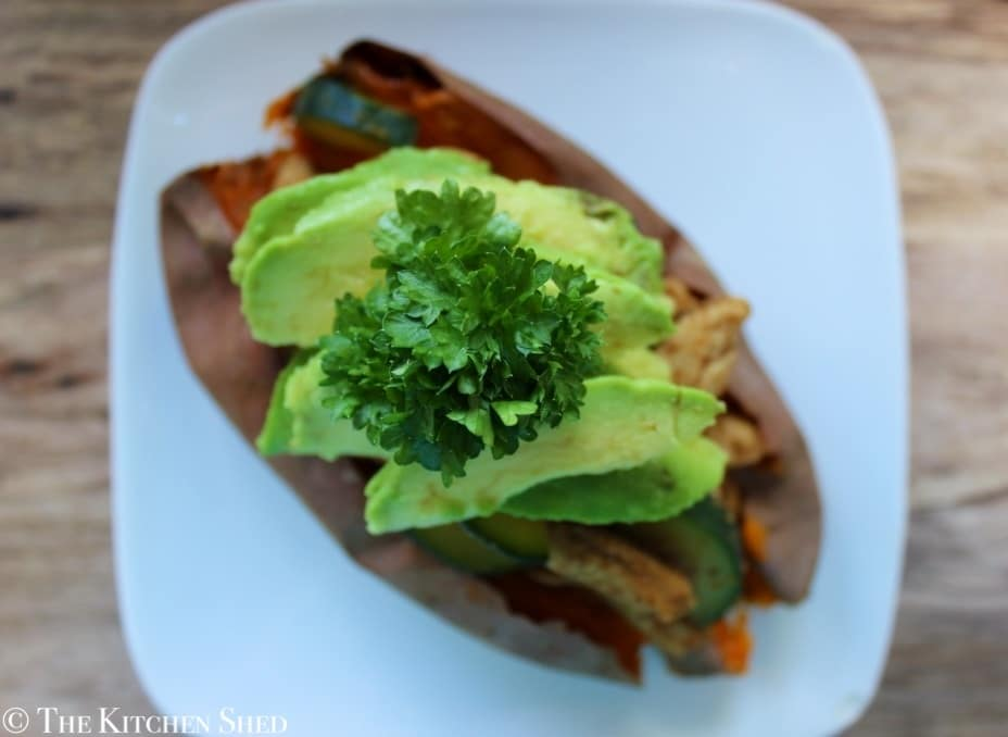 Clean Eating Mexican Stuffed Sweet Potatoes
