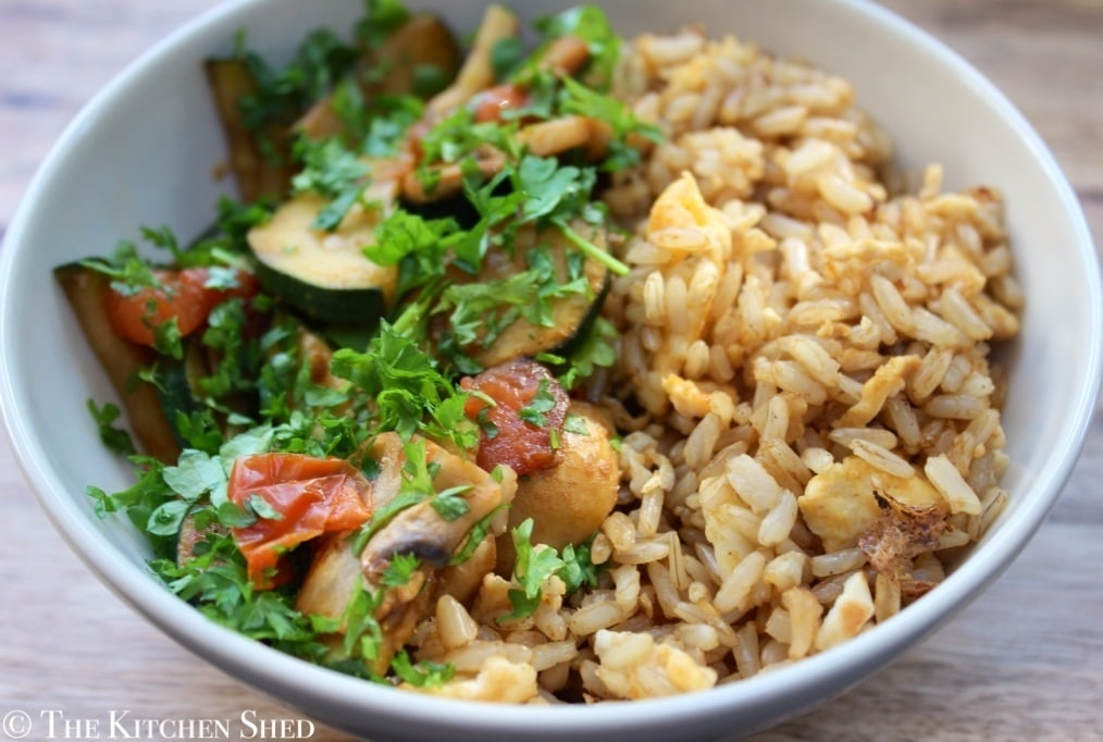 Clean Eating Brown Rice Breakfast Bowl
