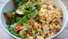 Clean Eating Brown Rice Breakfast Bowl