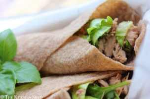 Clean Eating Tuna Basil Wraps