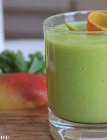 Clean Eating Mango Kale Smoothie