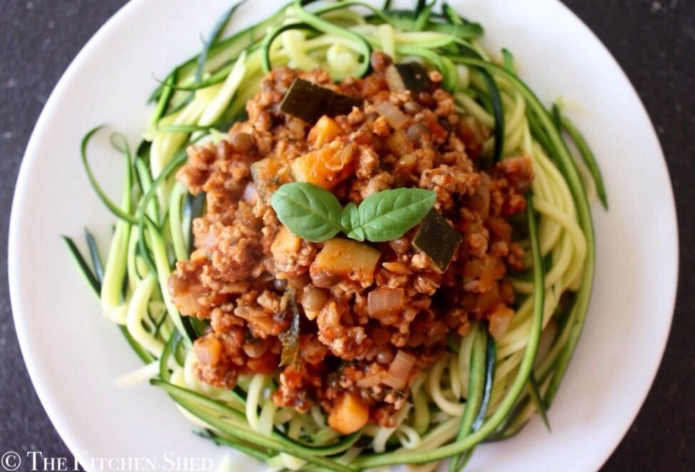 Clean Eating Turkey Lentil Bolognese