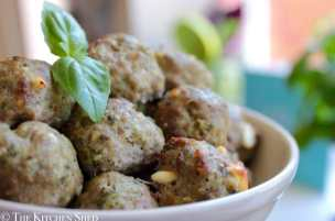 Clean Eating Turkey Pesto Feta Meatballs