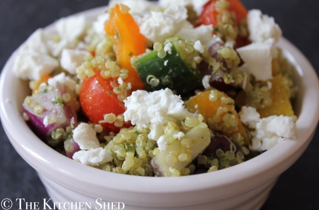 Clean Eating Pesto Quinoa Salad
