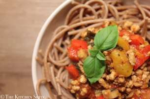 Clean Eating Pork & Pepper Bolognese