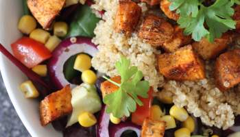 Top 20 clean eating vegan recipes the kitchen shed clean eating mexican sweet potato quinoa salad forumfinder Image collections