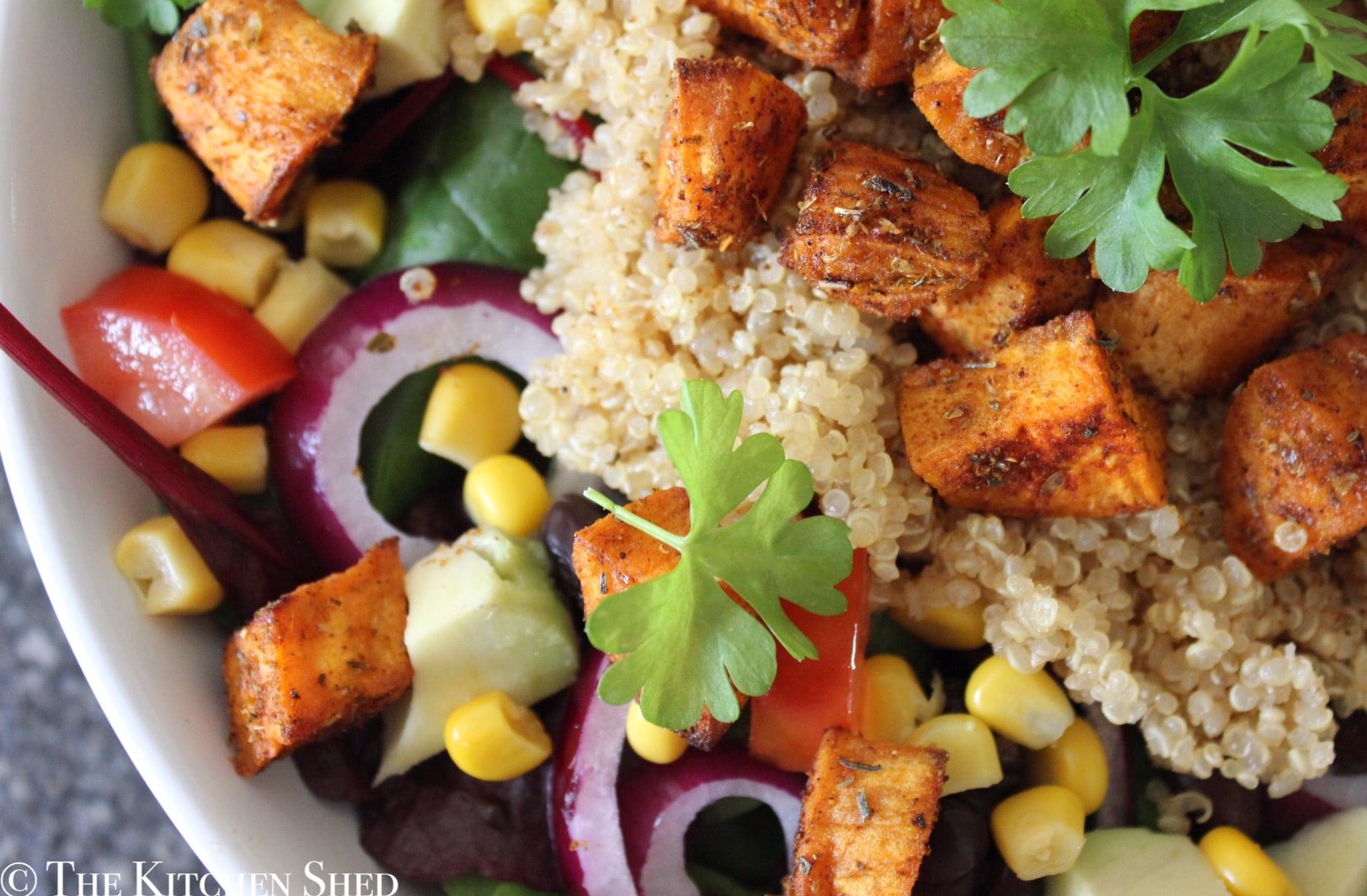 Clean Eating Mexican Sweet Potato & Quinoa Salad