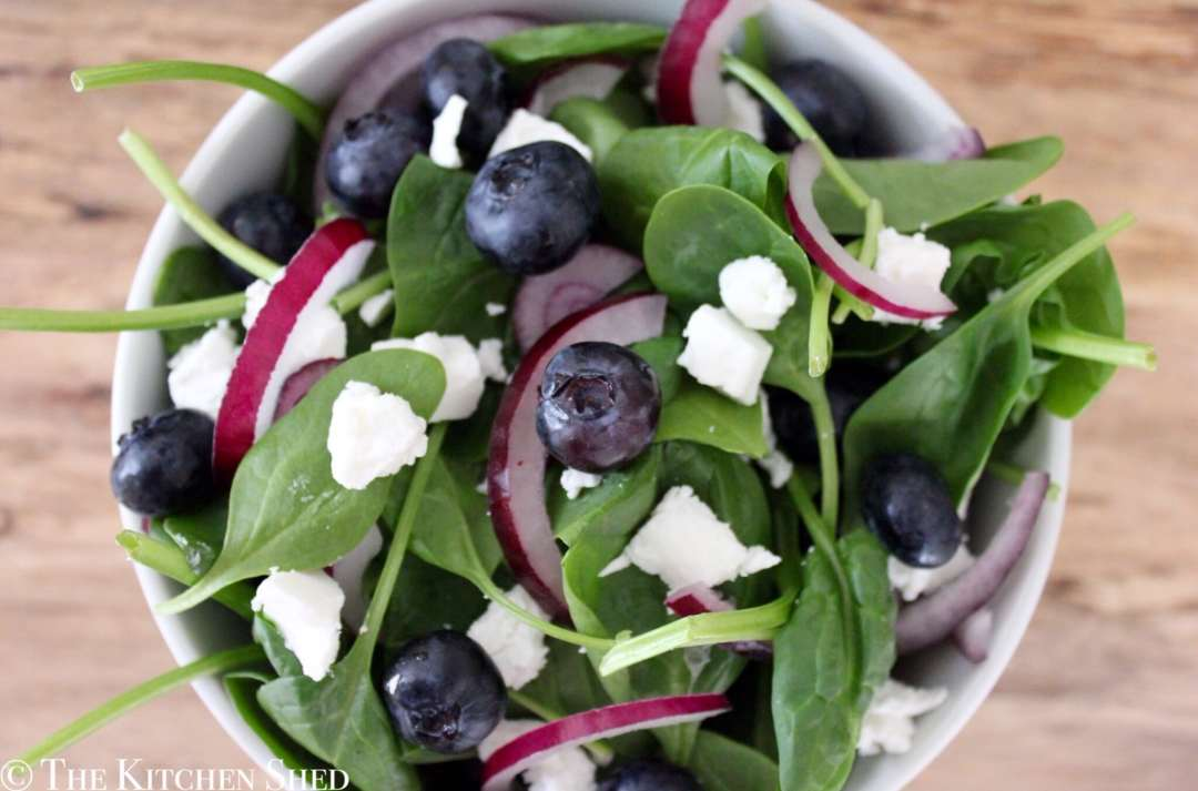 Clean Eating Blueberry Goats Cheese Salad