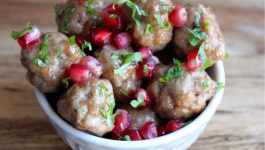 Clean Eating Cinnamon Pear Glazed Meatballs