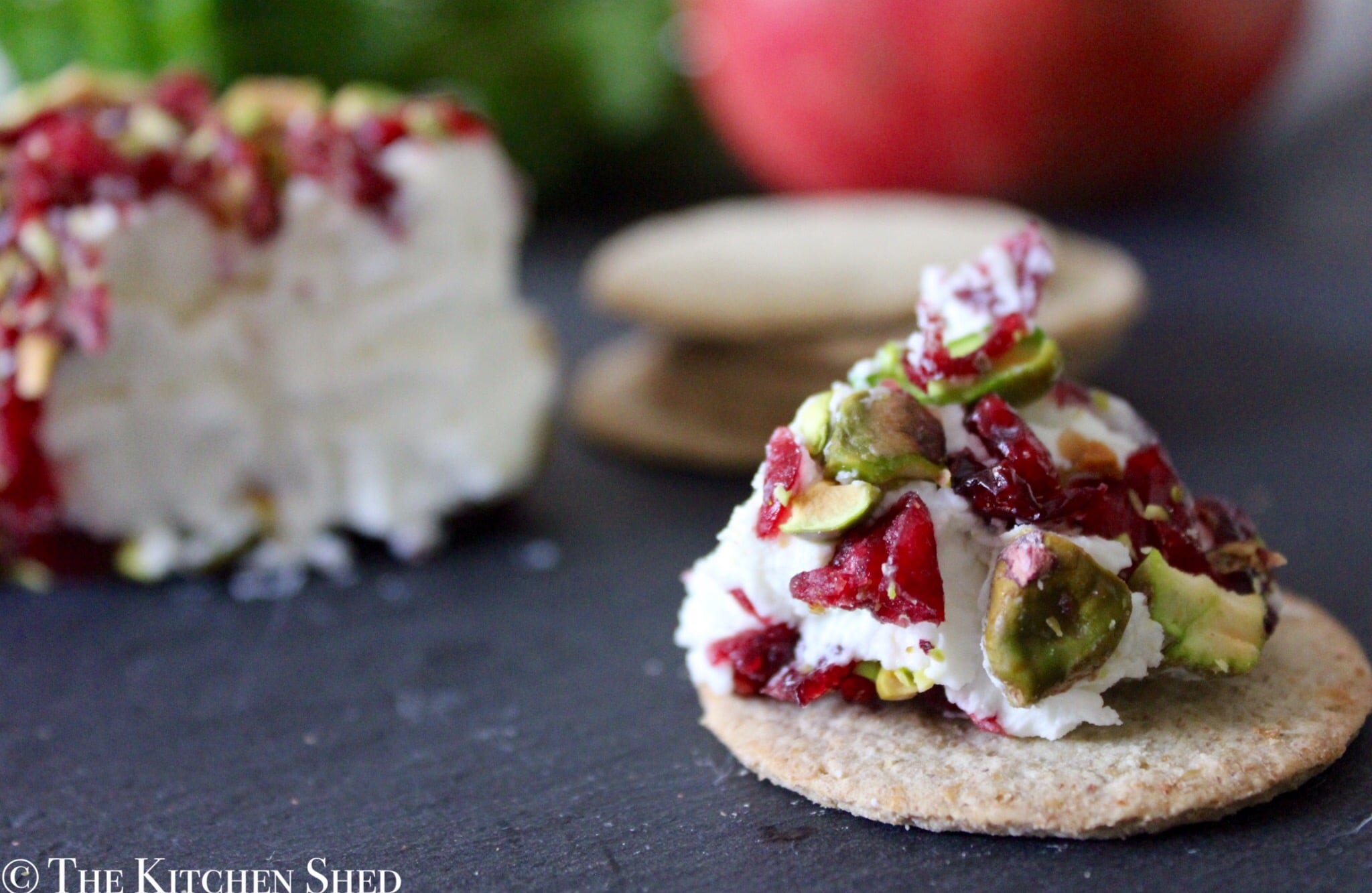 Clean Eating Cranberry & Pistachio Goats Cheese Log