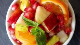 Clean Eating Cinnamon Spiced Winter Fruit Salad