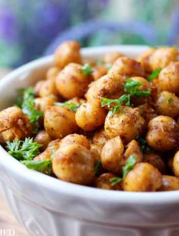 Clean Eating ActiFry Spicy Roasted Chickpeas