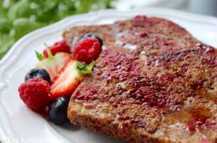 Clean Eating Raspberry French Toast