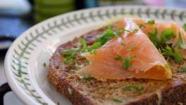 Clean Eating Savoury French Toast & Smoked Salmon