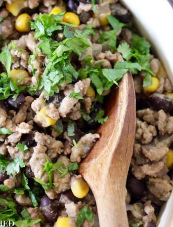 Clean Eating Turkey, Corn & Black Bean Tacos 3