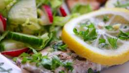 Clean Eating Lemon & Garlic Butter Rainbow Trout + 12 #SeafoodWeek Recipes