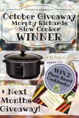 Slow Cooker Winner + Next Months Giveaway Revealed!