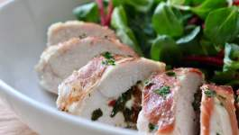 Clean Eating Sundried Tomato, Basil & Feta Stuffed Chicken