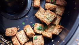 Clean Eating Garlic Rosemary Wholewheat Croutons