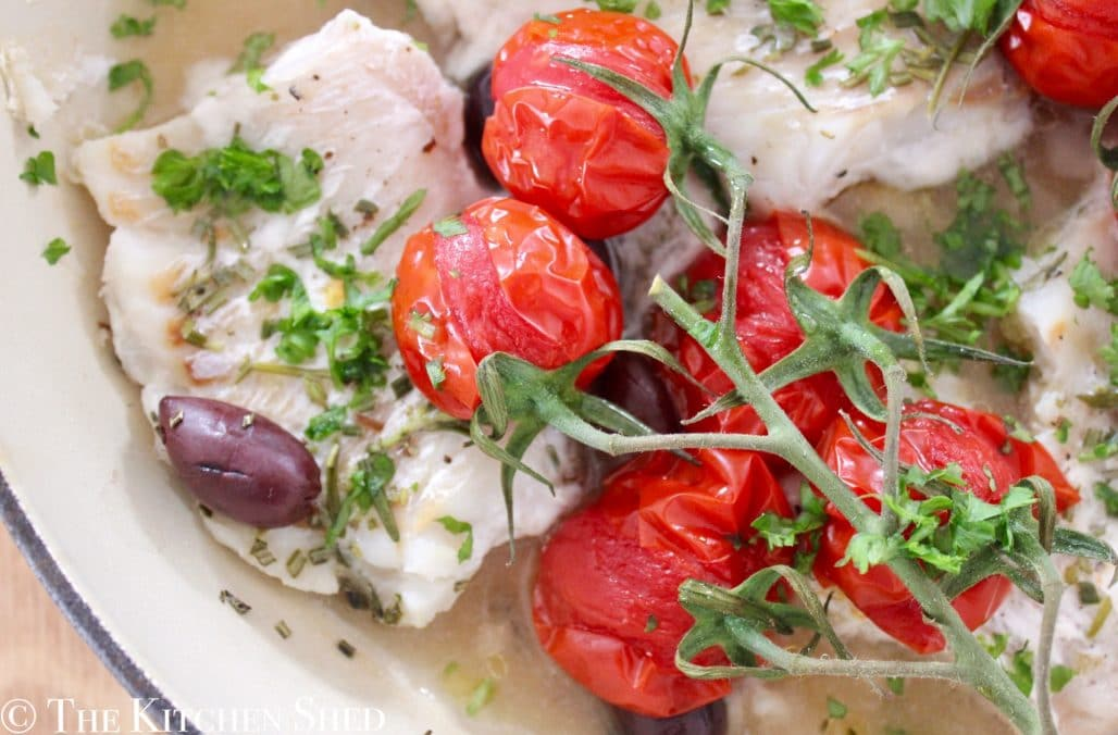 baked cod with rosemary