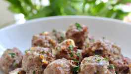 Clean Eating Rosemary Feta Meatballs
