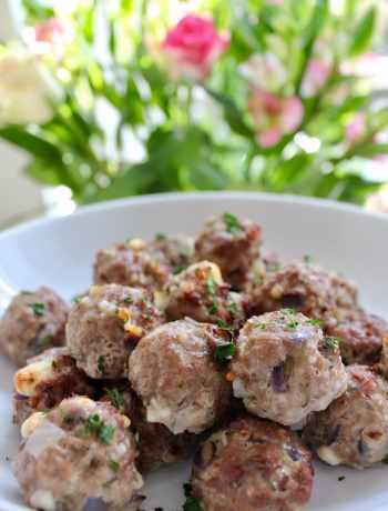 Clean Eating Rosemary Feta Meatballs