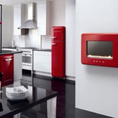 Red Kitchen Appliances Counter Lamps Supplies