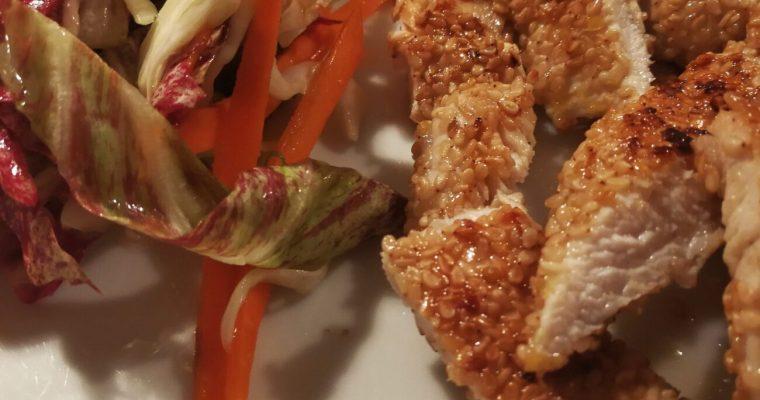 Pollo Fritto con Sesamo e Coriandolo