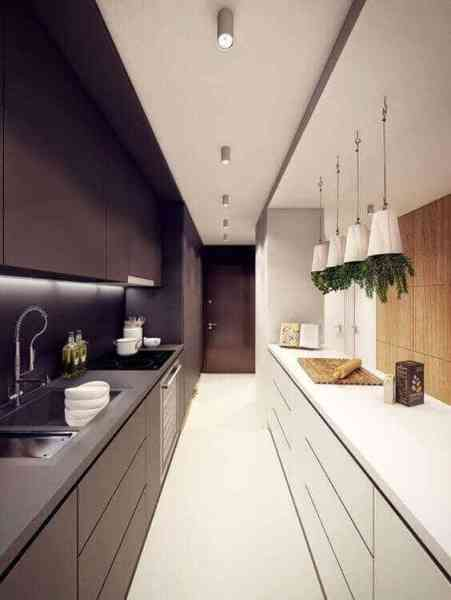 long narrow kitchen design ideas 33 Long Narrow Kitchen Layout Suggestions