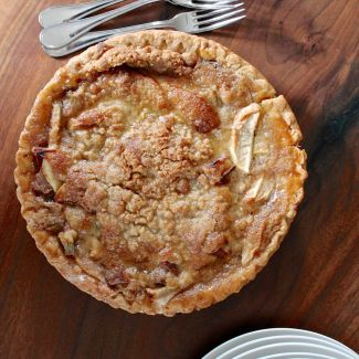 French Style Apple Rhubarb Pie