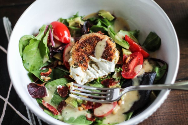 Fried Goat Cheese Salad-4